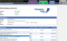 i will send you excel price quote commercial invoice and purchase order templates