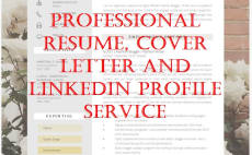 I Will Create And Revamp Your Resume Coverletter Linkedin Pro Writer