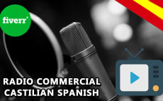record a radio commercial in castilian spanish