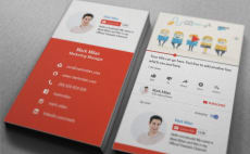Turn your instagram into a business card by shammad i will design youtube style business card reheart Image collections
