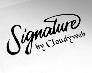 Deign 3 Signature Logo With Free Vector Files By Cloudyweb