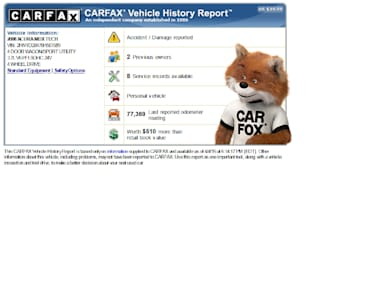 give carfax and free autocheck
