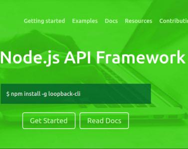 implement rest api and webapp in node js