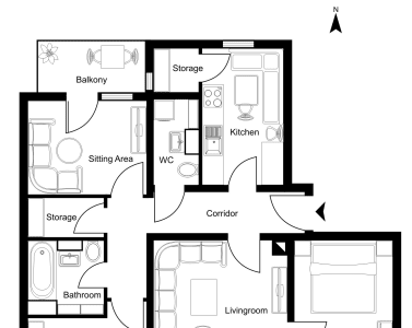 Draw A Floor Plan In Coreldraw By Roplans