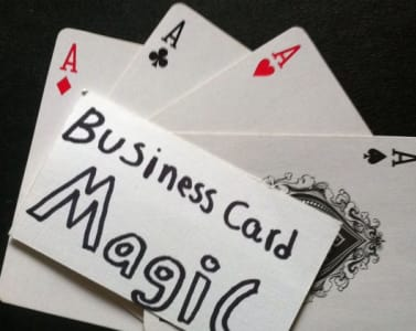 Teach you 3 business card easy magic tricks great for networking by teach you 3 business card easy magic tricks great for networking by magicdood colourmoves