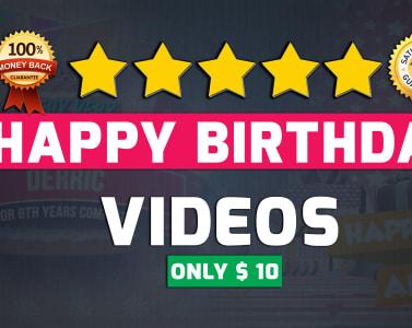Create amazing happy birthday video fiverr m4hsunfo