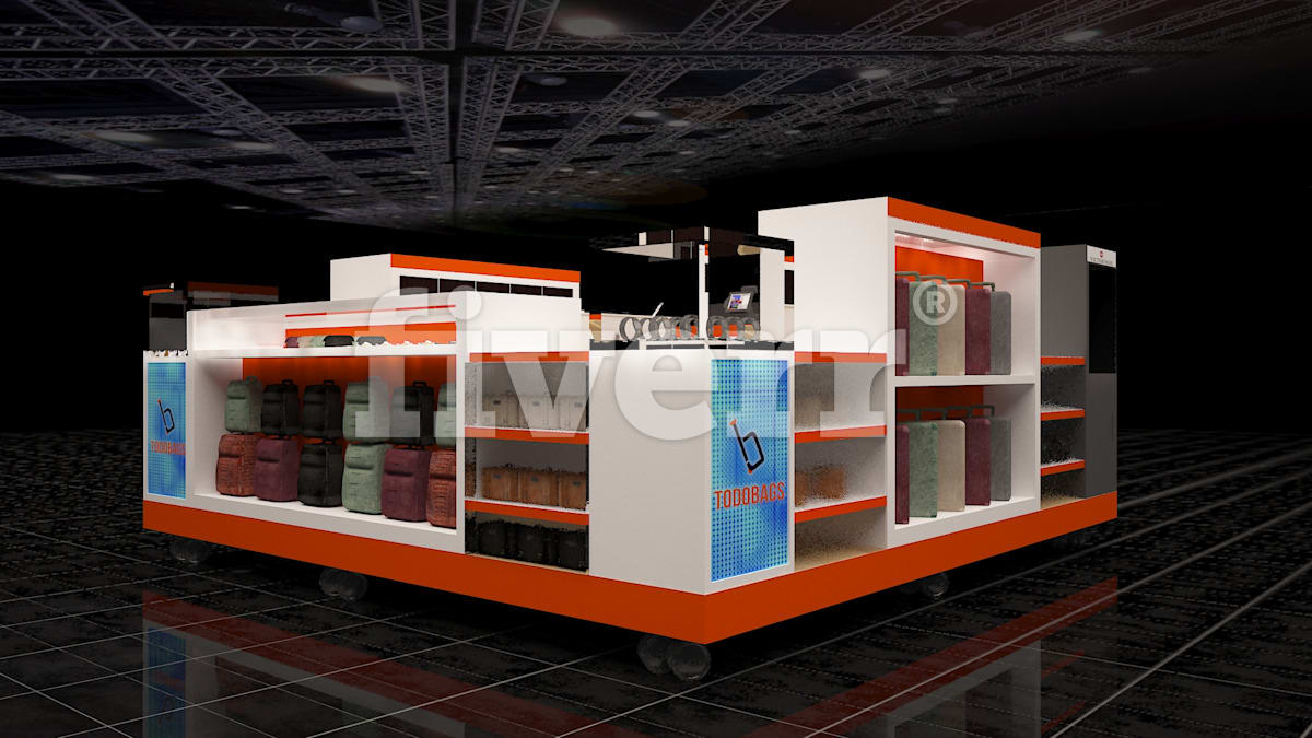 3d Exhibition Booth Design : Create d exhibition booth stall and venue by nurulhudabd