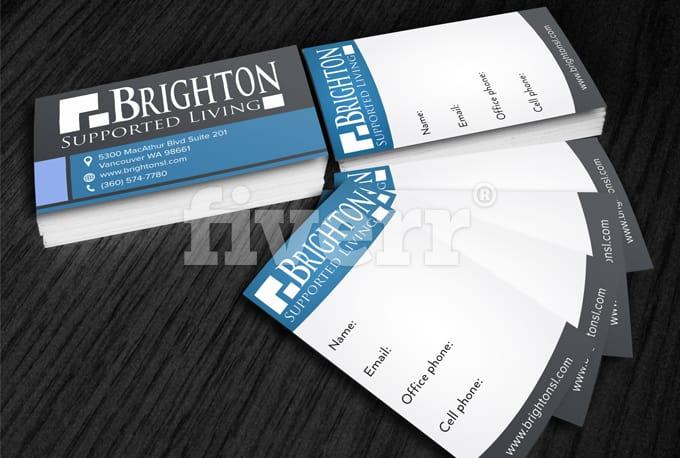 Design double side business card by sandarufx colourmoves