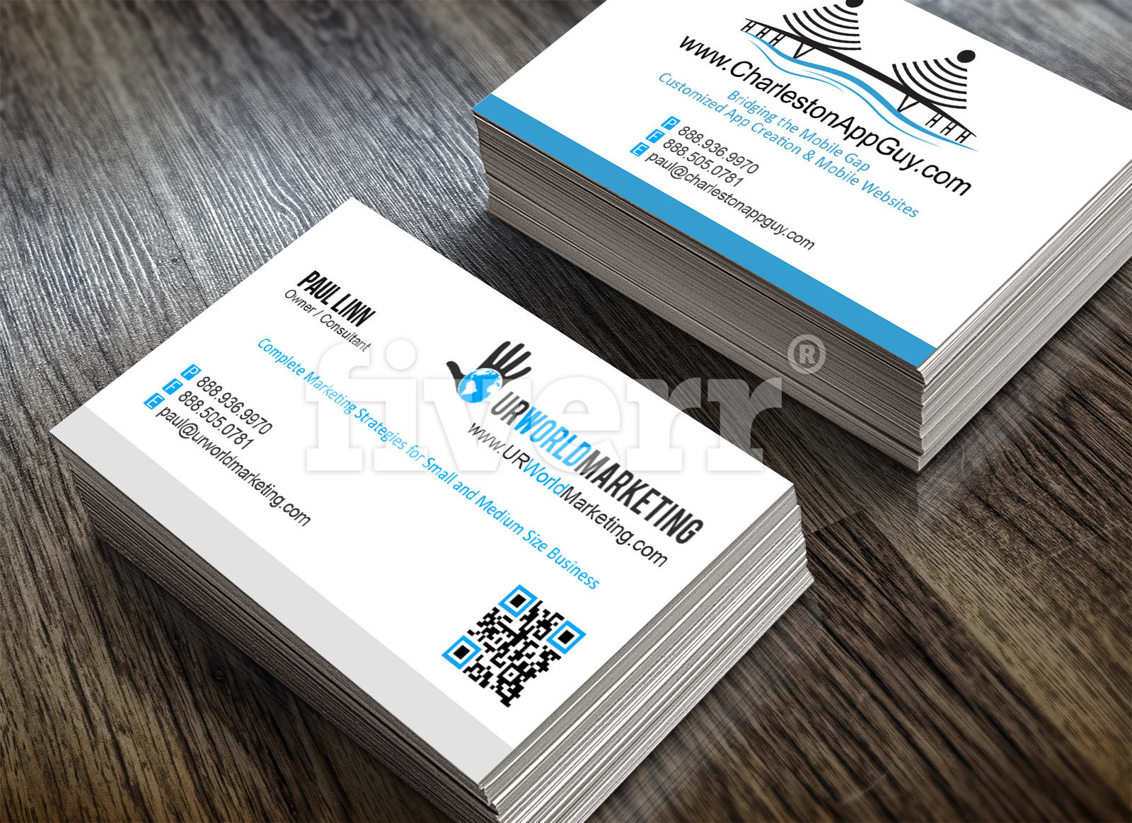 Design this modern double sided business card with qr code by design this modern double sided business card with qr code by jamesliberman reheart Choice Image