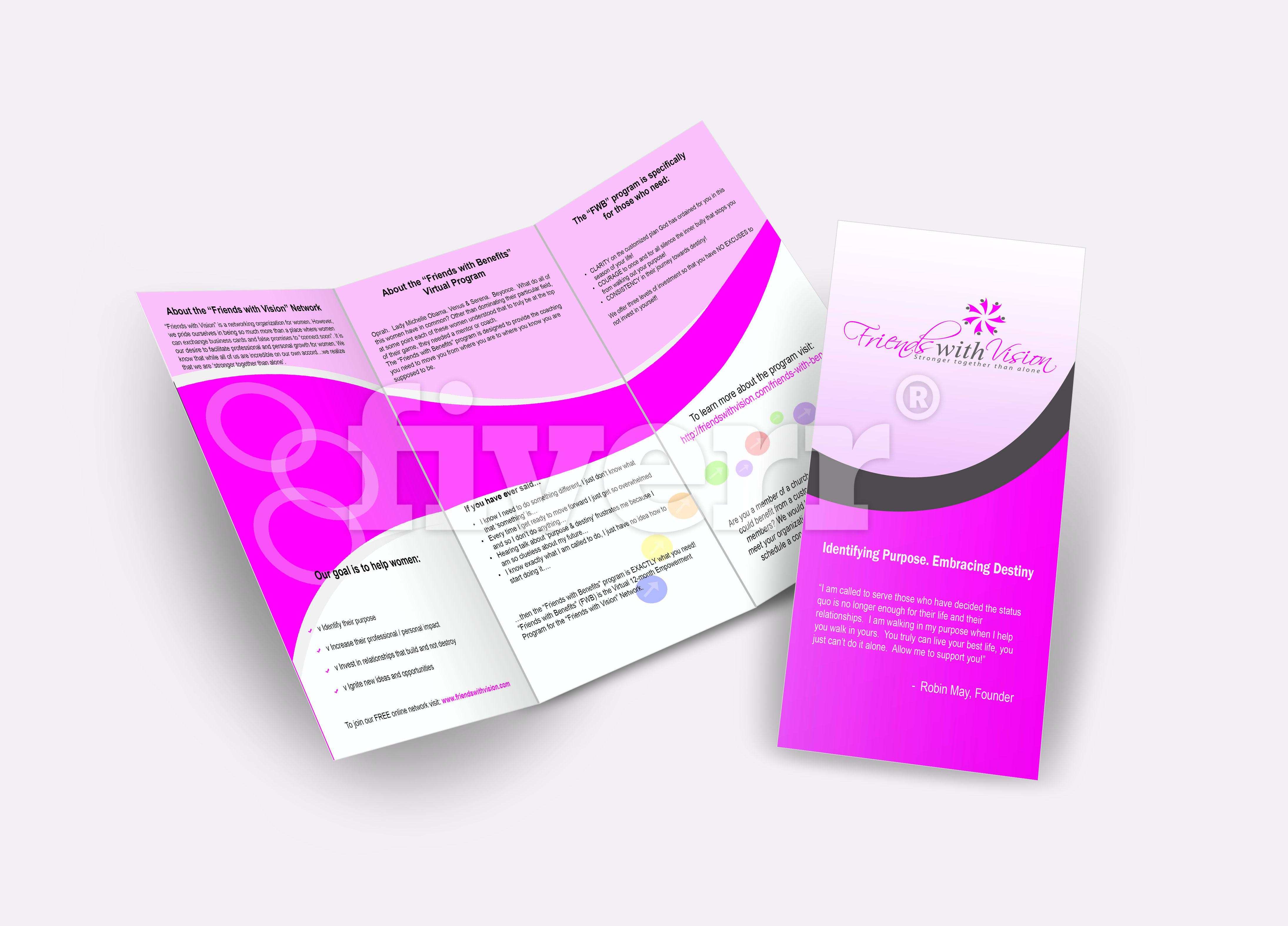 make an eye catching tri fold brochure by designbangla