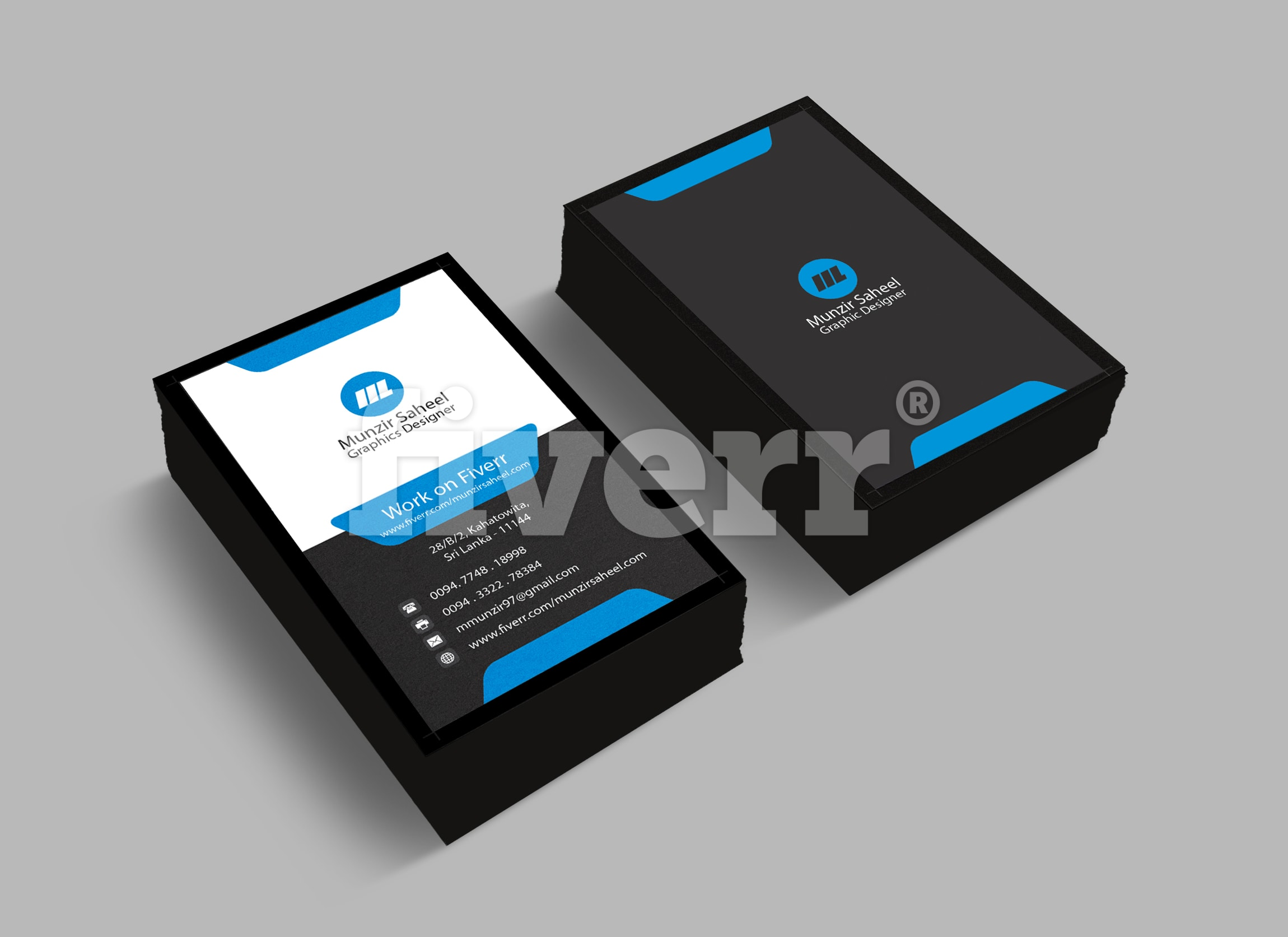 Outstanding 2 sided business card vista print ready by Munzirsaheel