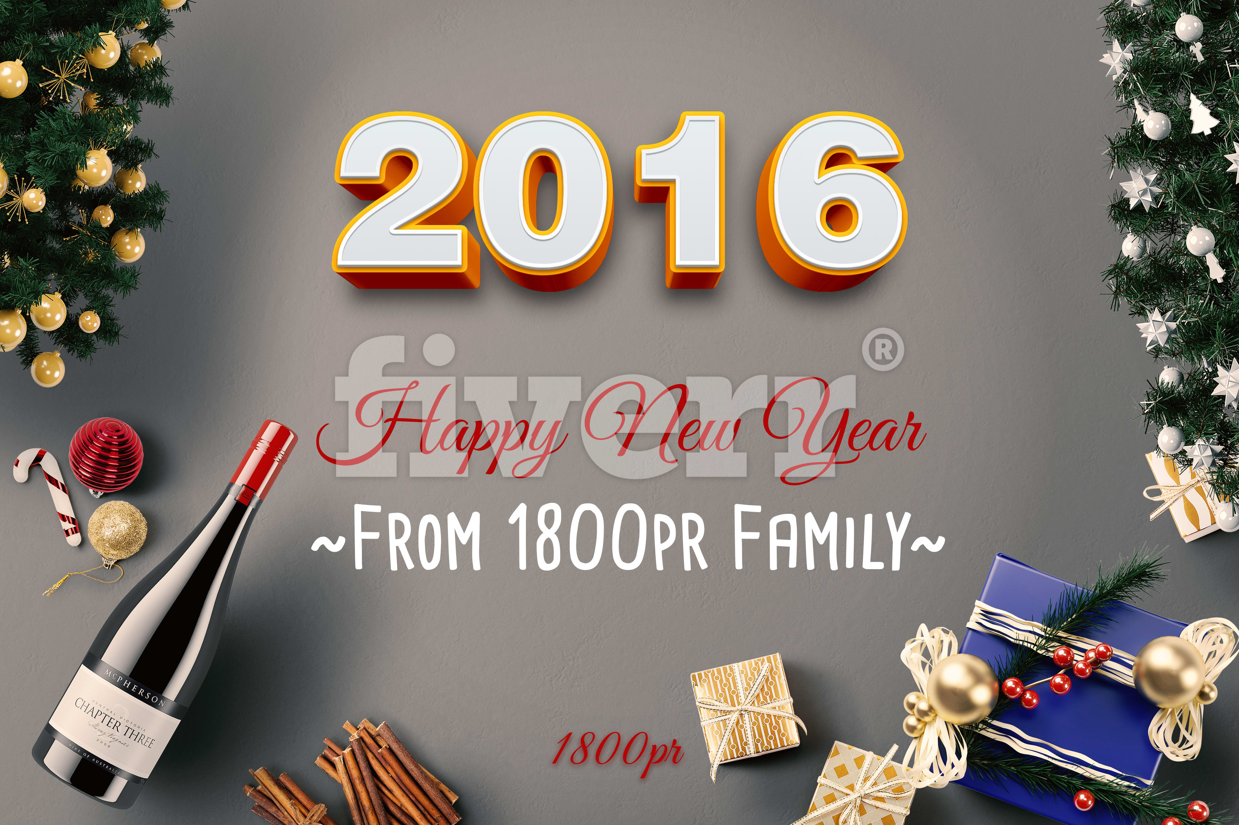 Create A Profi New Year Greeting Card Fast By Mockupgirl