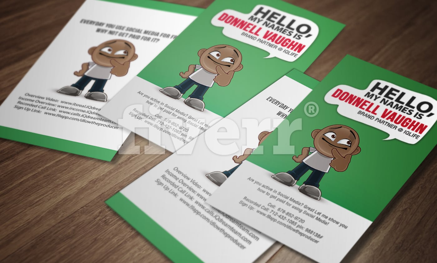 Design stunning character business card by Nj_uccs