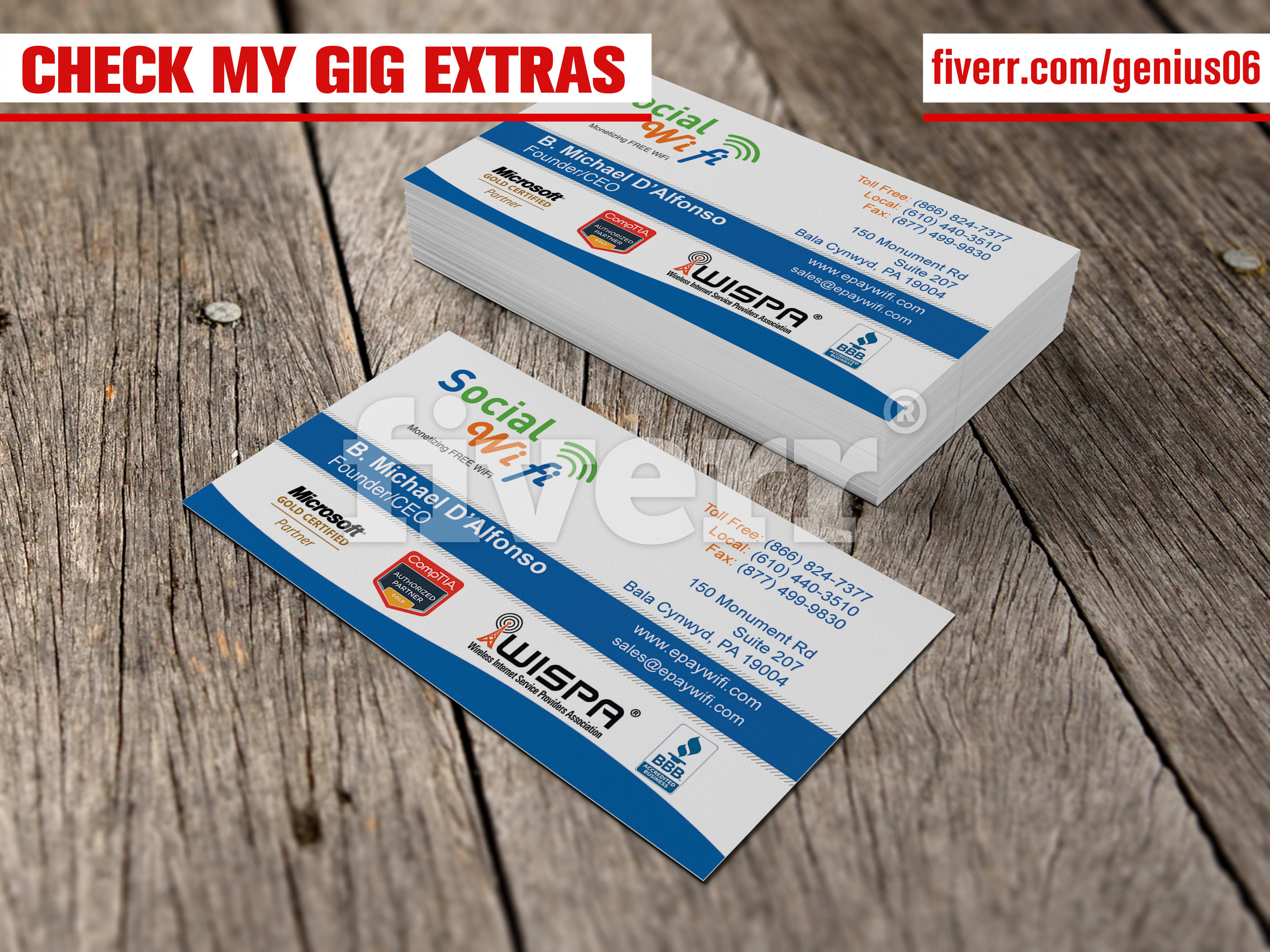 Design clean professional business cards and letterhead by genius06 reheart Image collections
