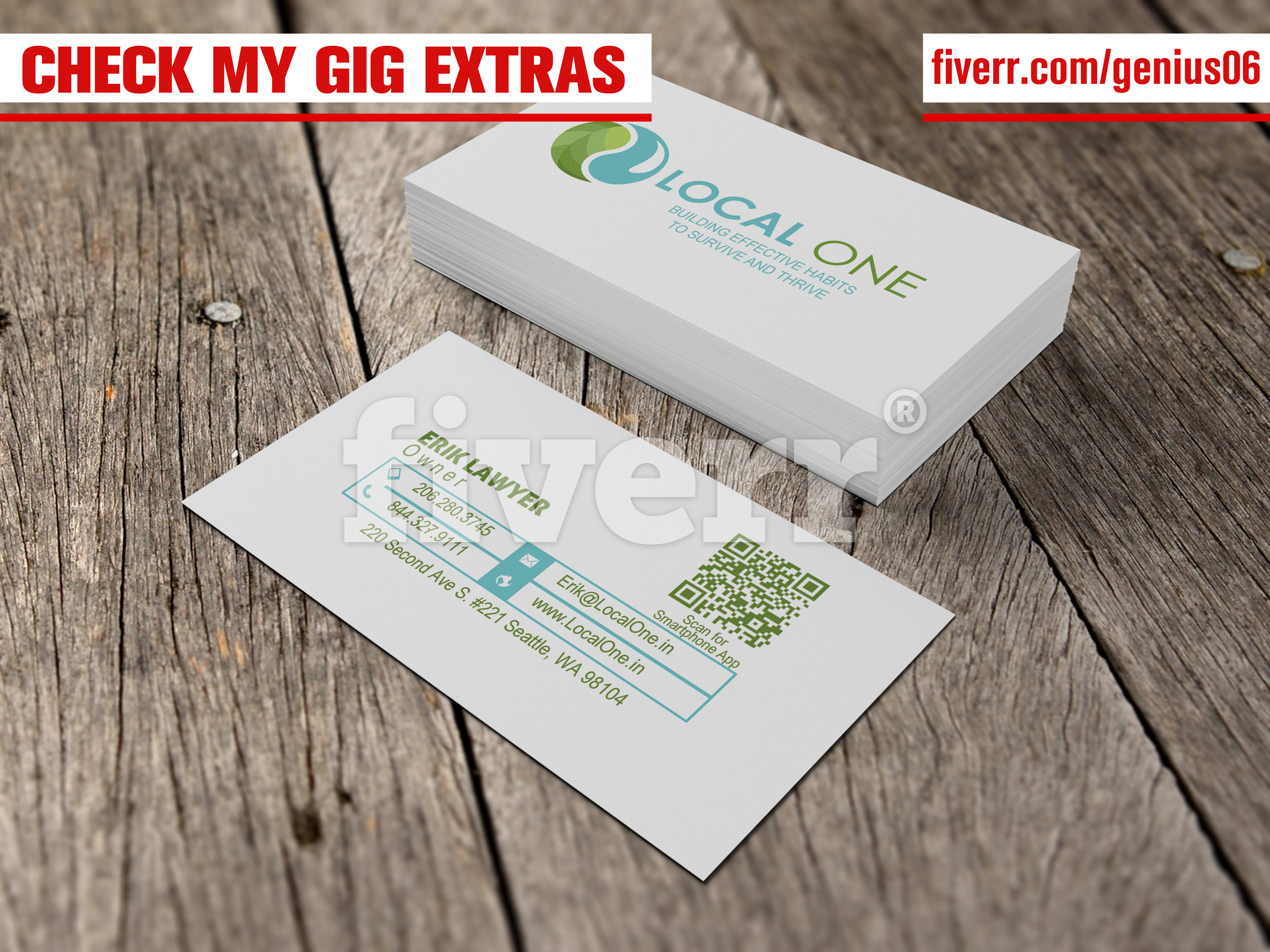 Design clean professional business cards and letterhead by genius06 reheart Images