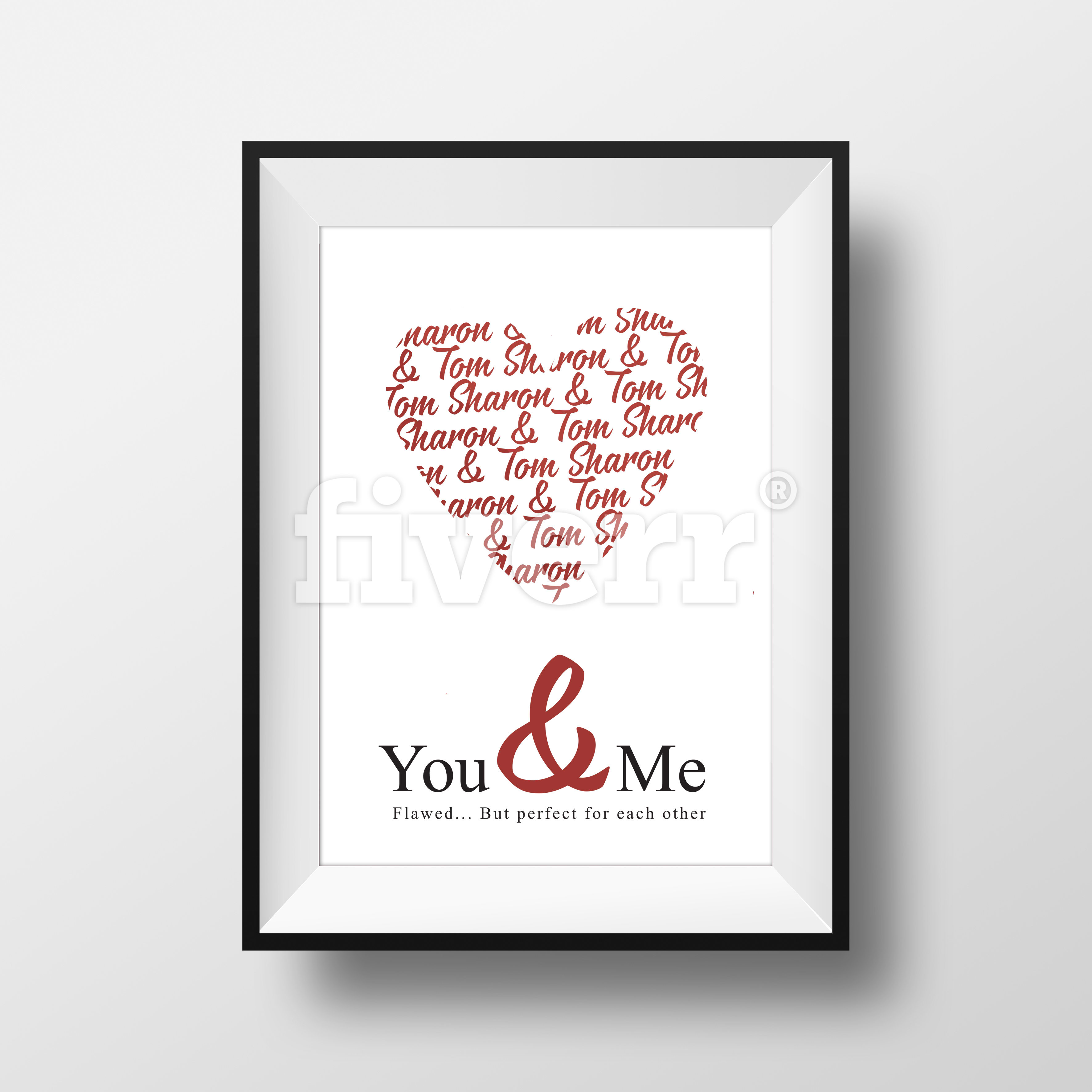 Put your quotes or pictures on an artwork frames by Maulionaire