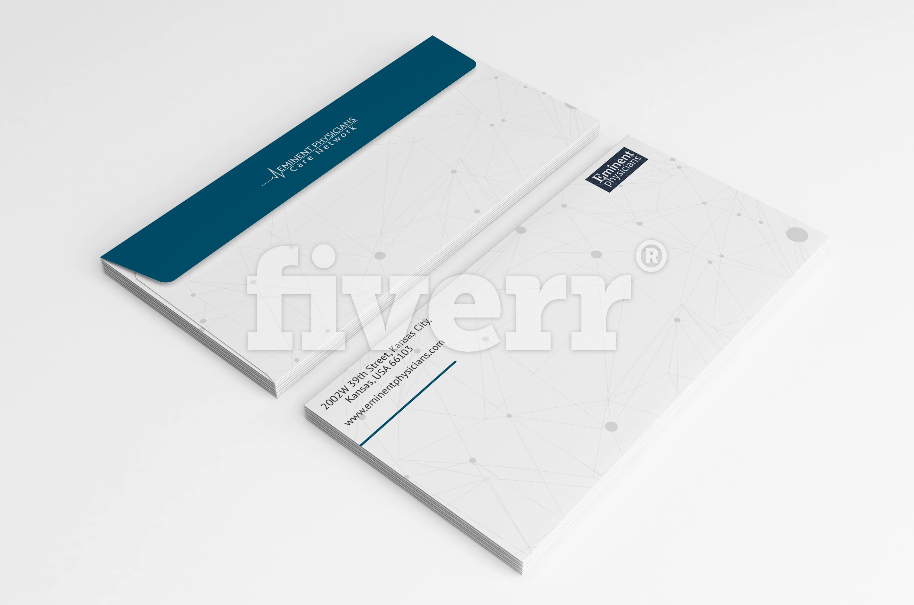 Do flat minimalist business card design in 24 hours by Speed_unknown
