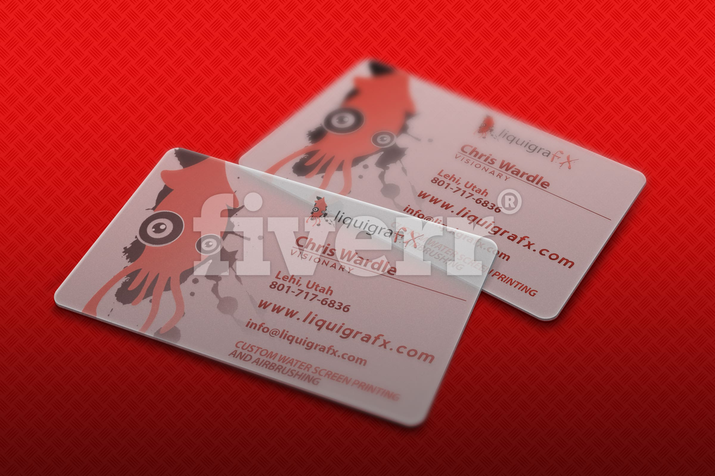 Create translucent business card mockup by pixeldrom reheart Choice Image