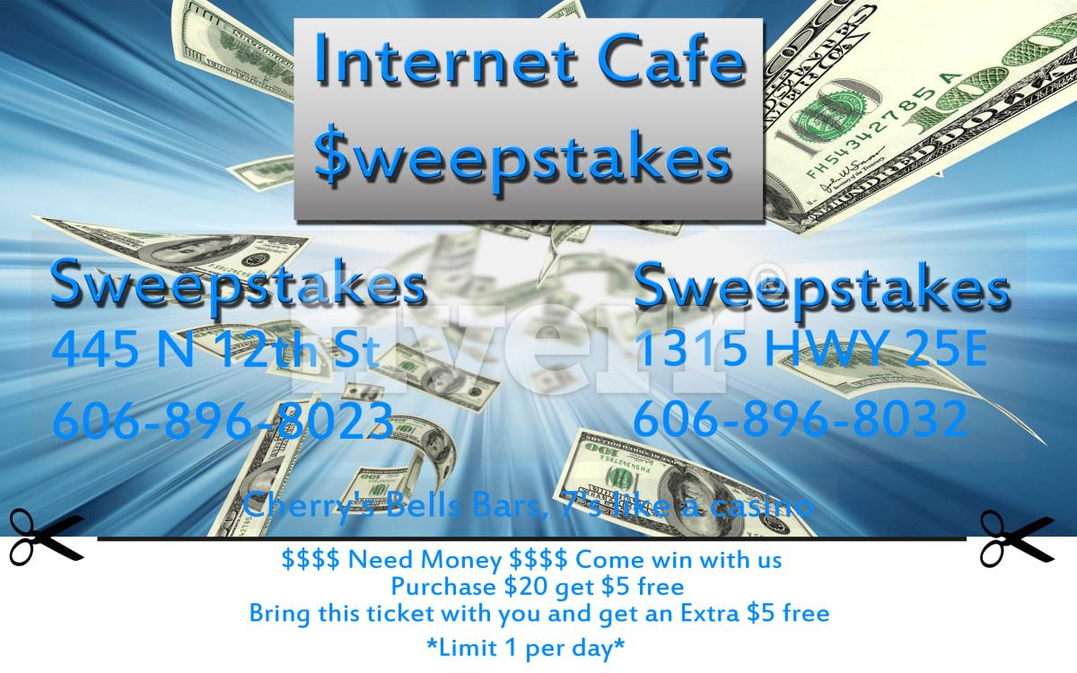 Servicio de cafe internet sweepstakes