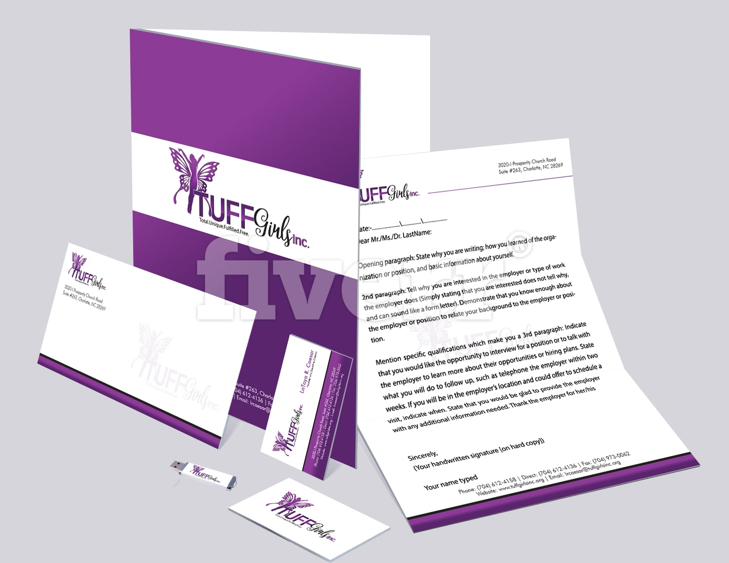 Letterhead business card and stationary branding reheart Choice Image