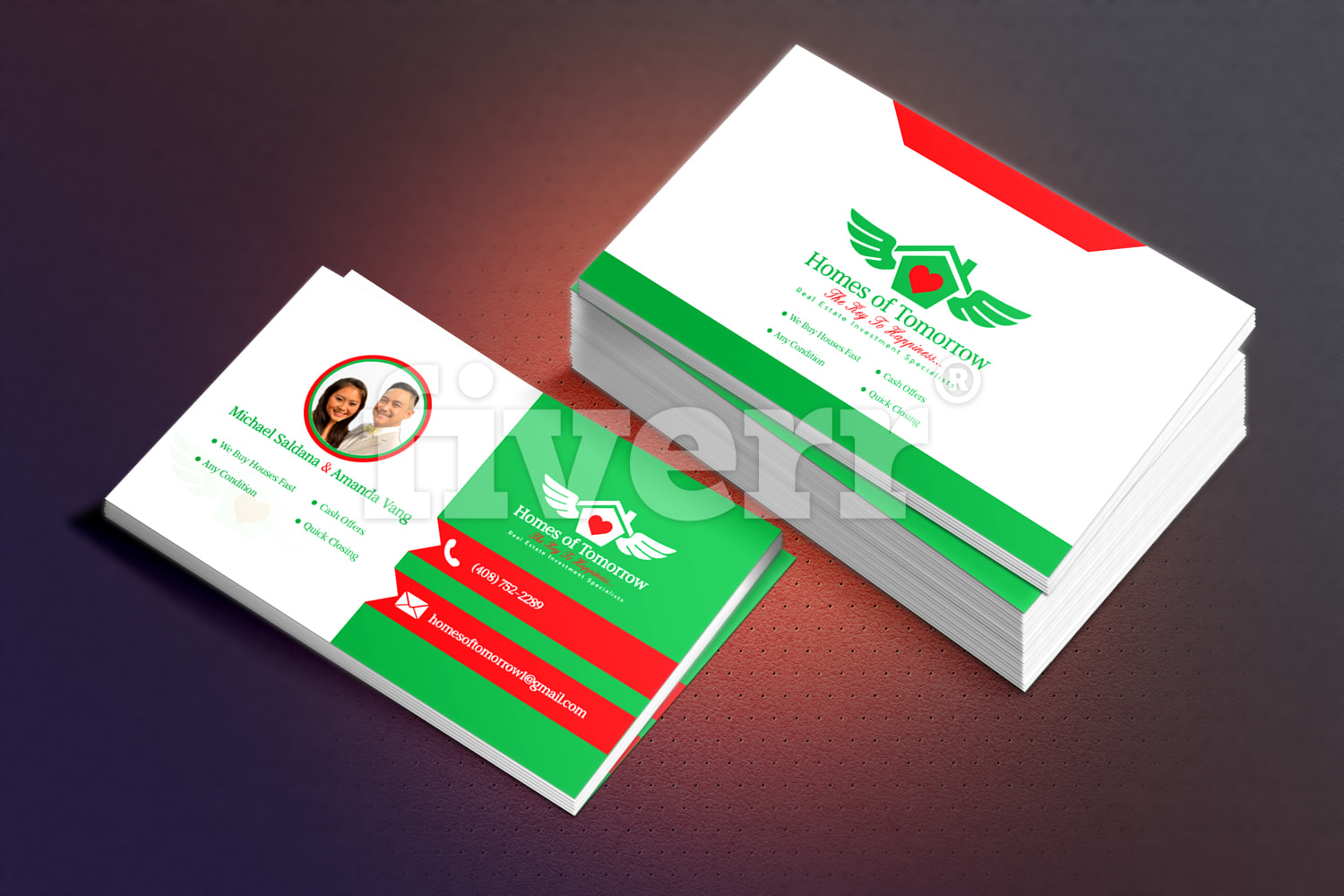 Design business card in 24 hours by logodes1gner colourmoves