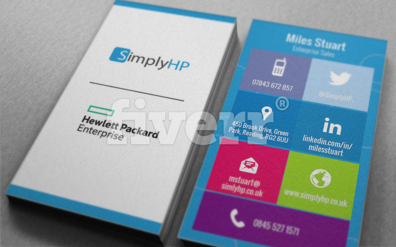 Design windows 10 style business card by shammad reheart Gallery