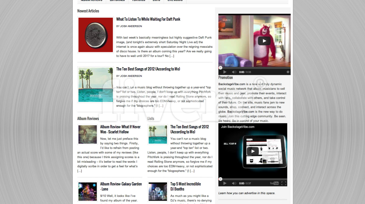 prominently promote your song, album, or music video on my blog