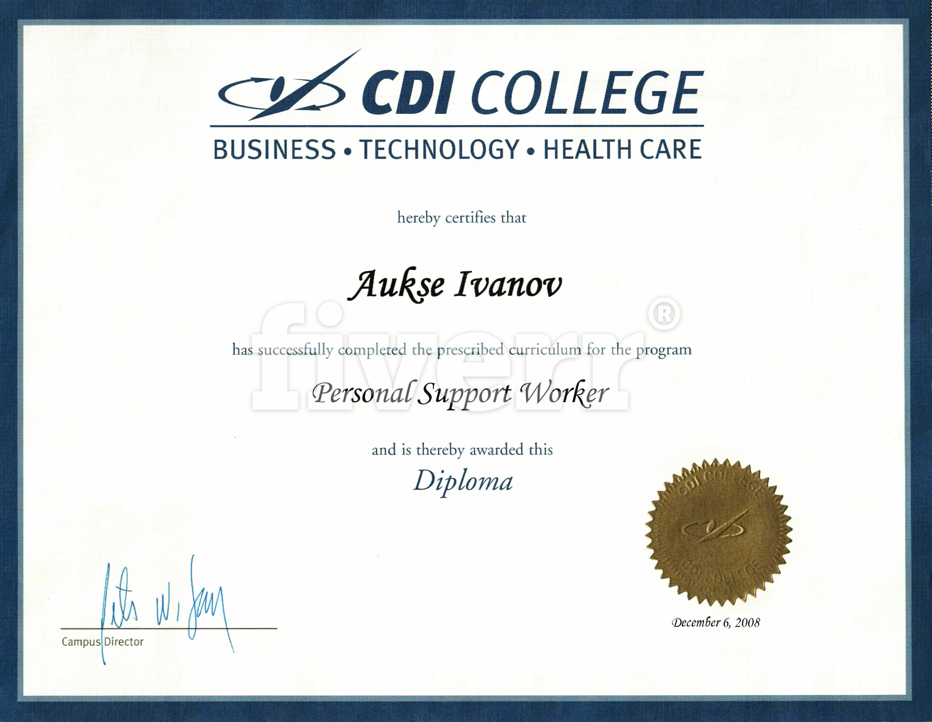 Design A Certificate Diploma By Noelber