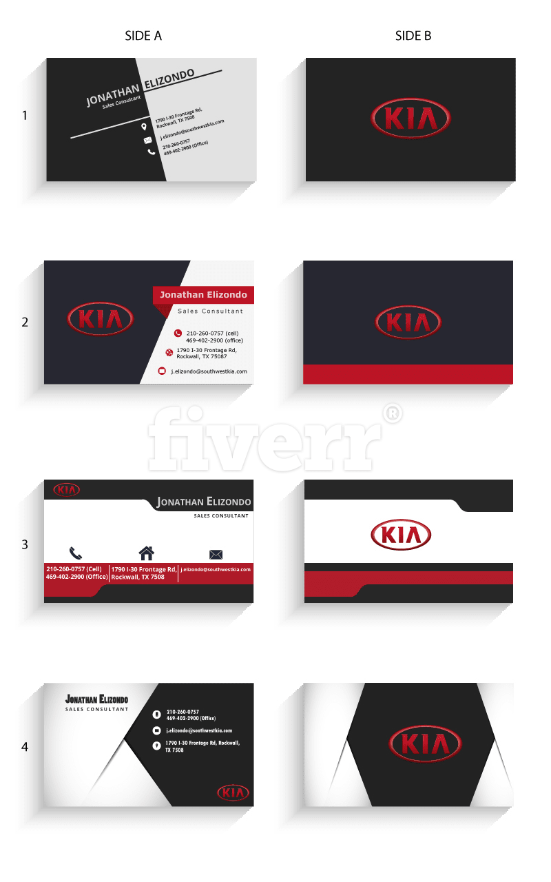 Design corporate business card fiverr reheart Image collections