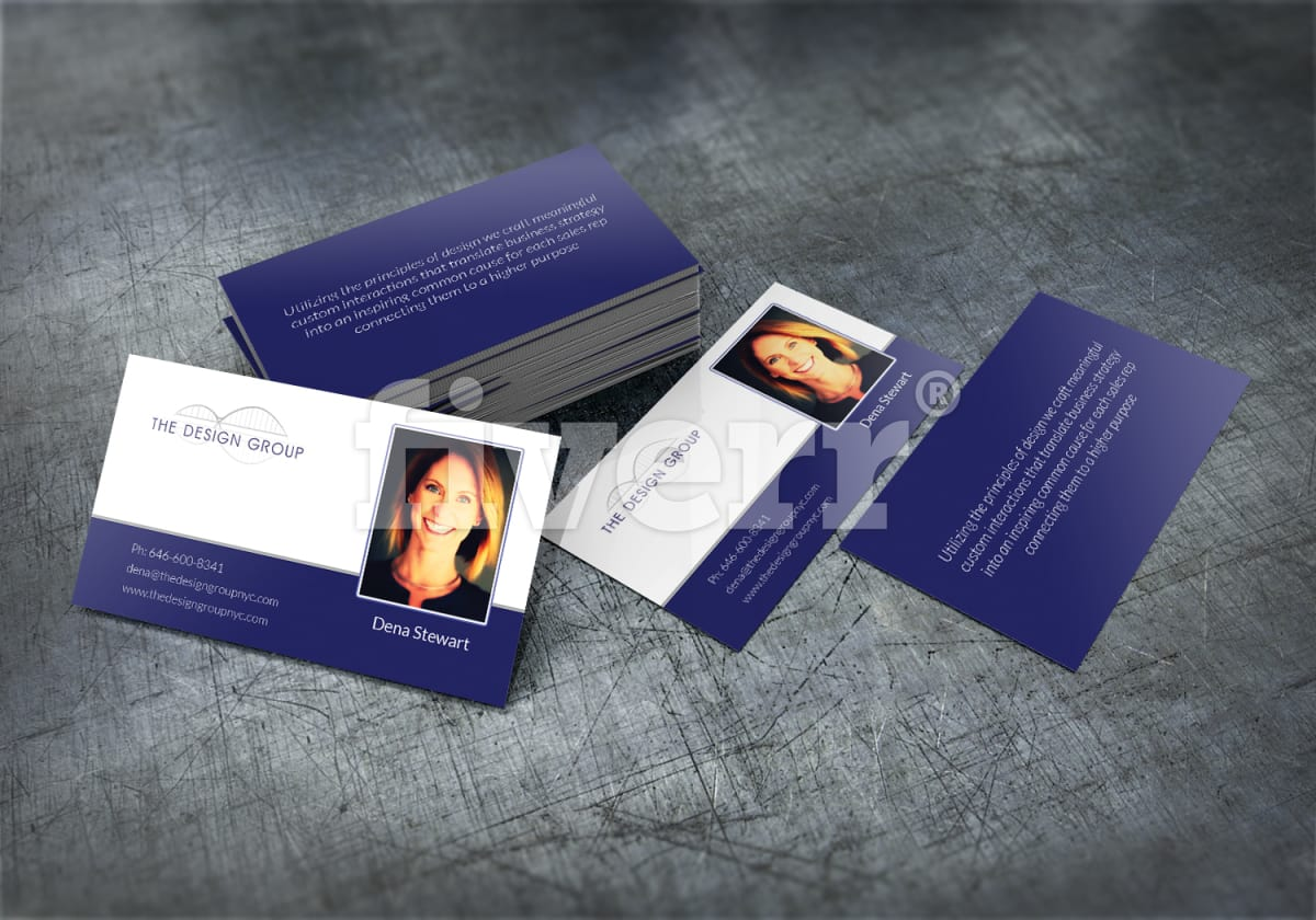 design a professional printable 2 sided business card by huester1
