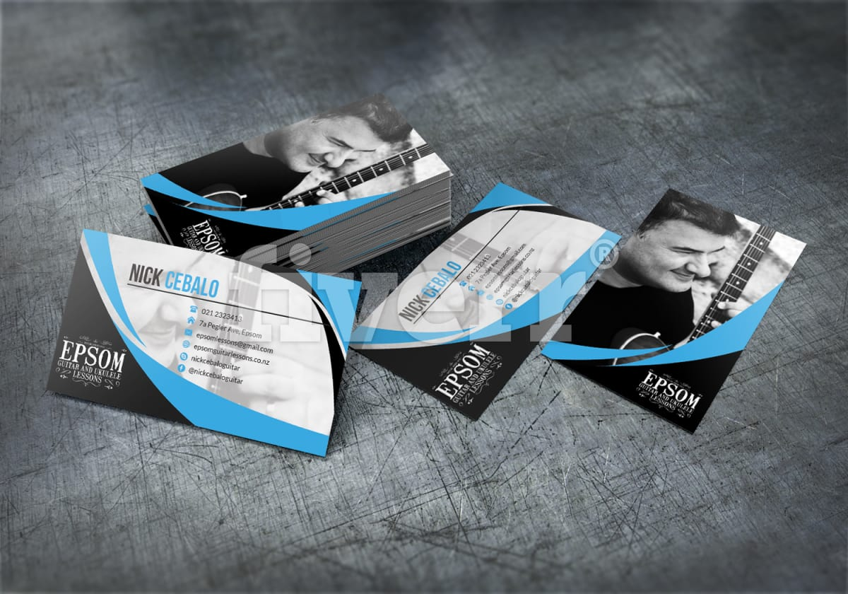 Design a professional printable 2 sided business card by huester1 reheart Image collections