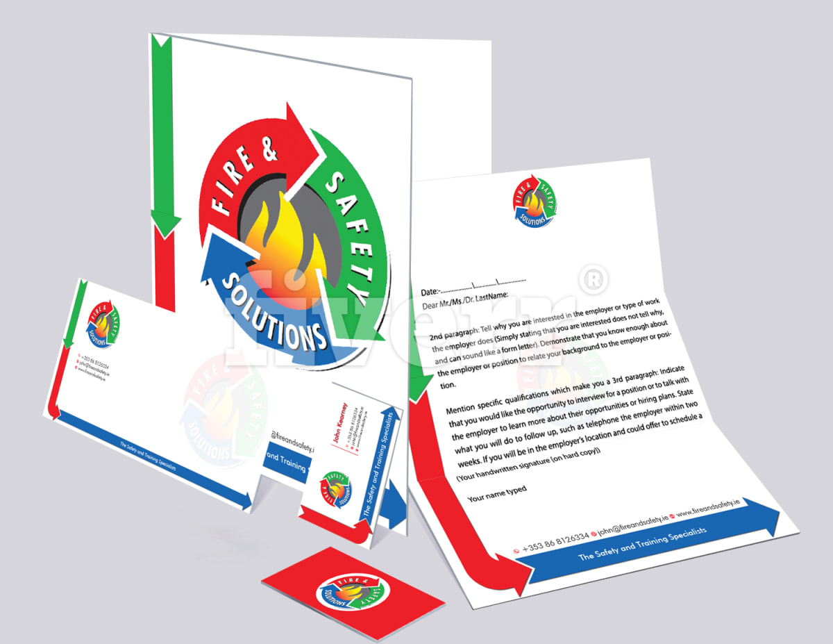 Letterhead business card and stationary branding reheart Images