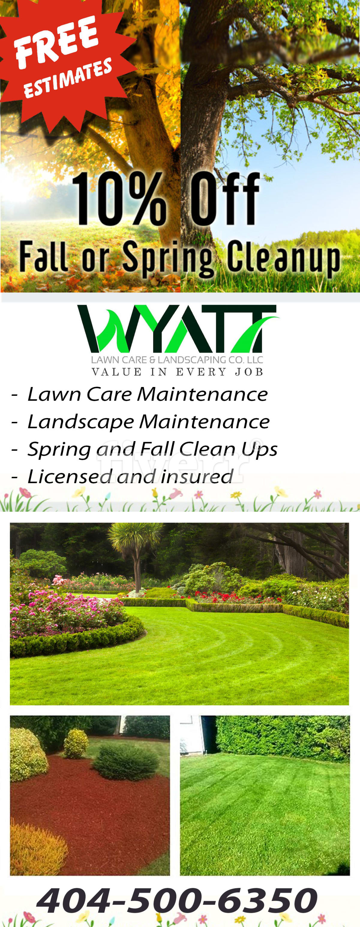 landscaping and lawn care door hanger www