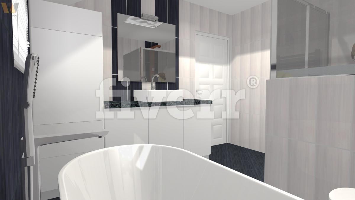 Create a unique 3d bathroom design by Svabic