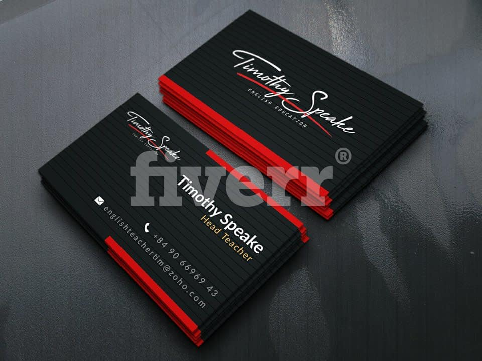 Do unique business card design by nishat2625 reheart Image collections