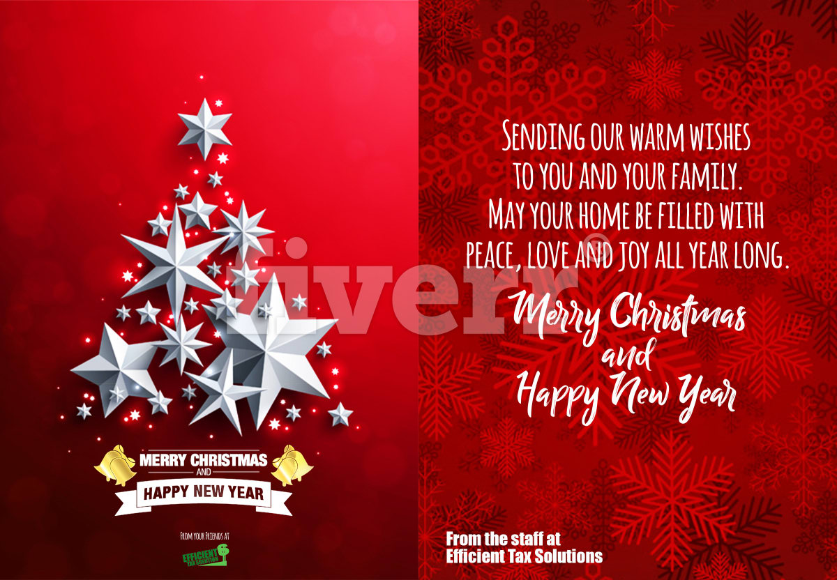 Create Christmas Card Flyer Poster By Fiverlegend1993