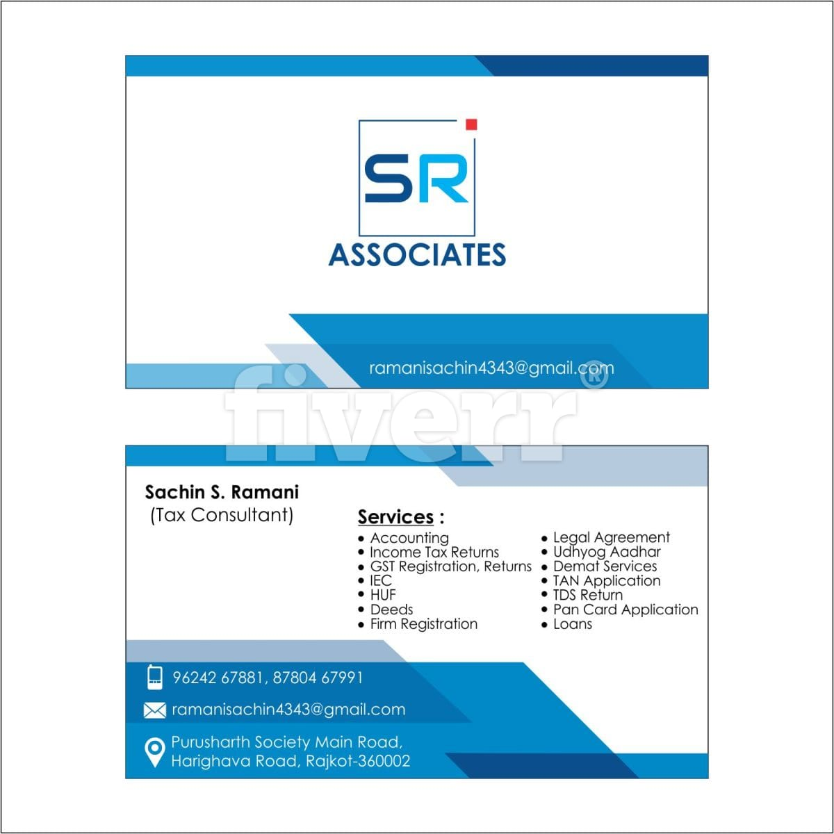 Do modern professional business card design for you by avanichotaliya5 colourmoves