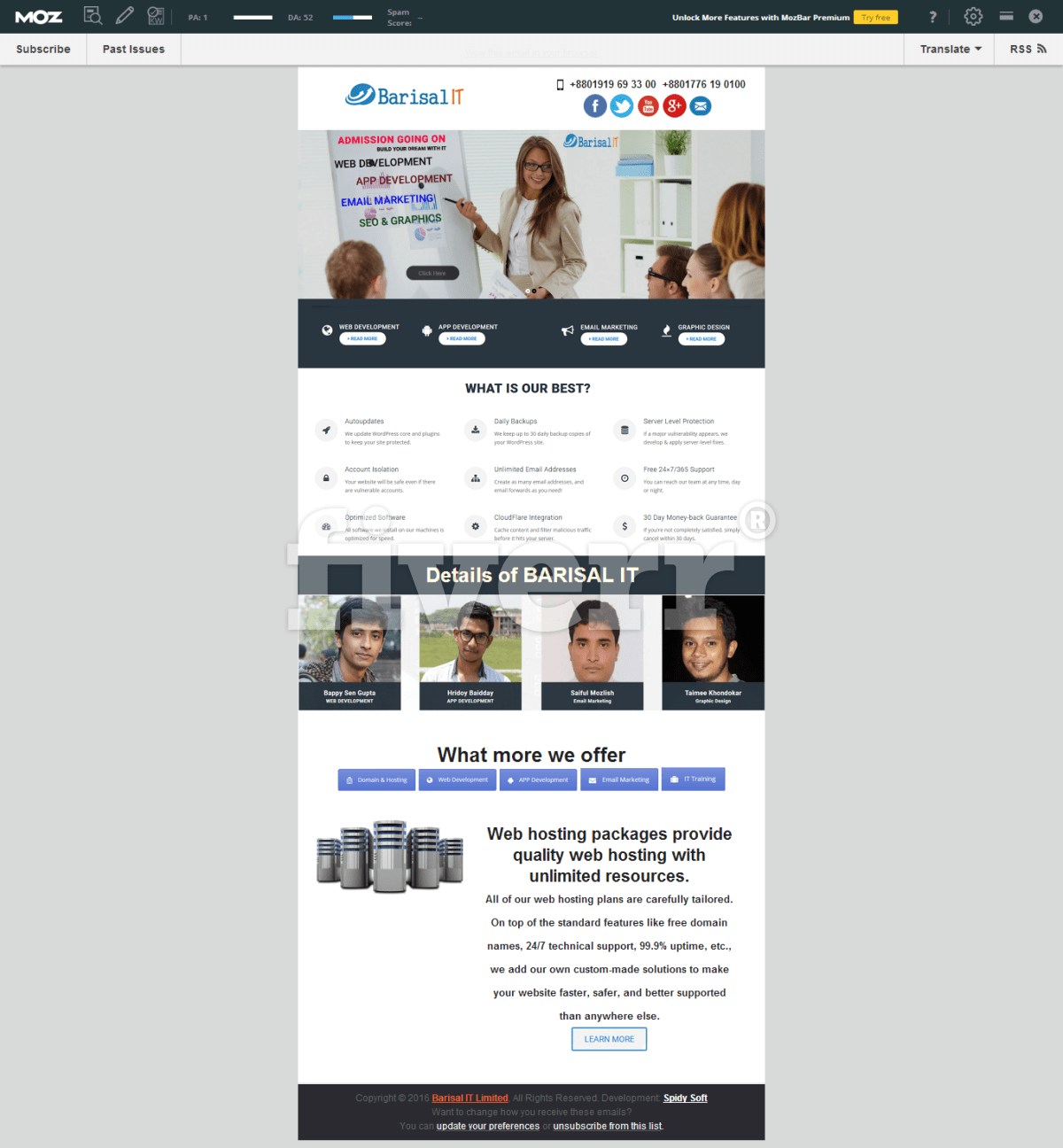Design responsive mailchimp email newsletters template by Atiqhabib93