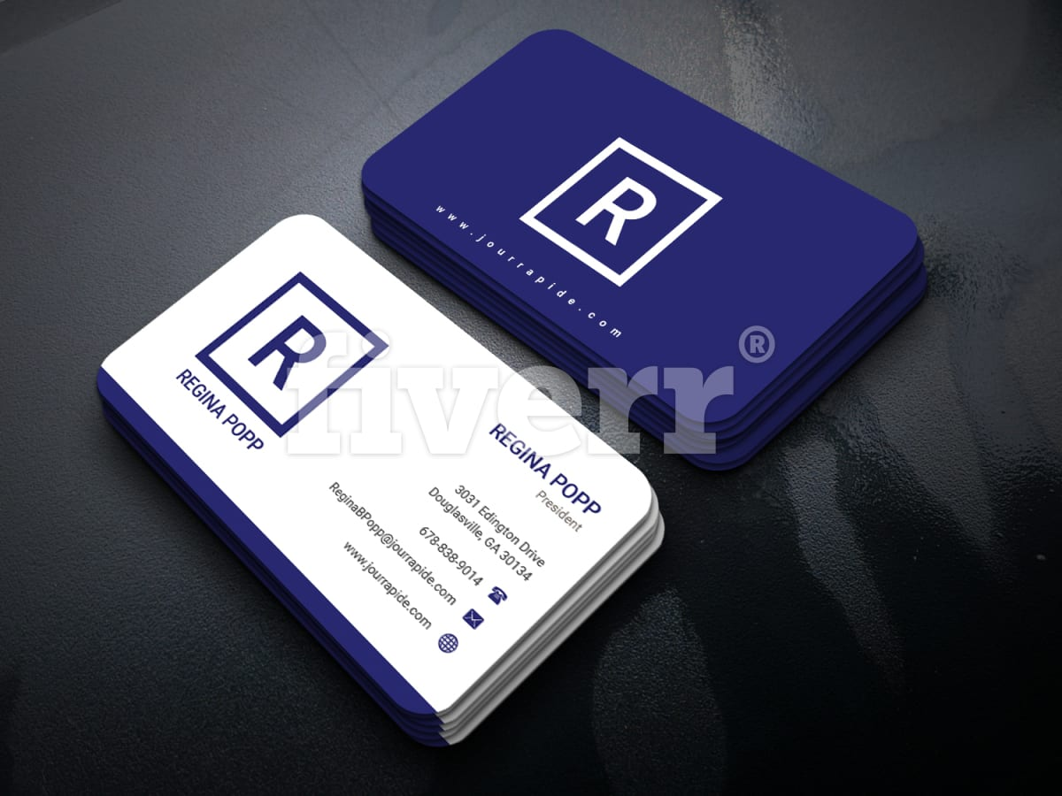 Create a modern business card in 4 hours fiverr reheart Image collections
