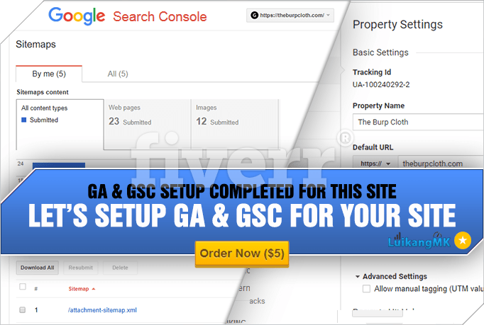 get google analytics search console installed