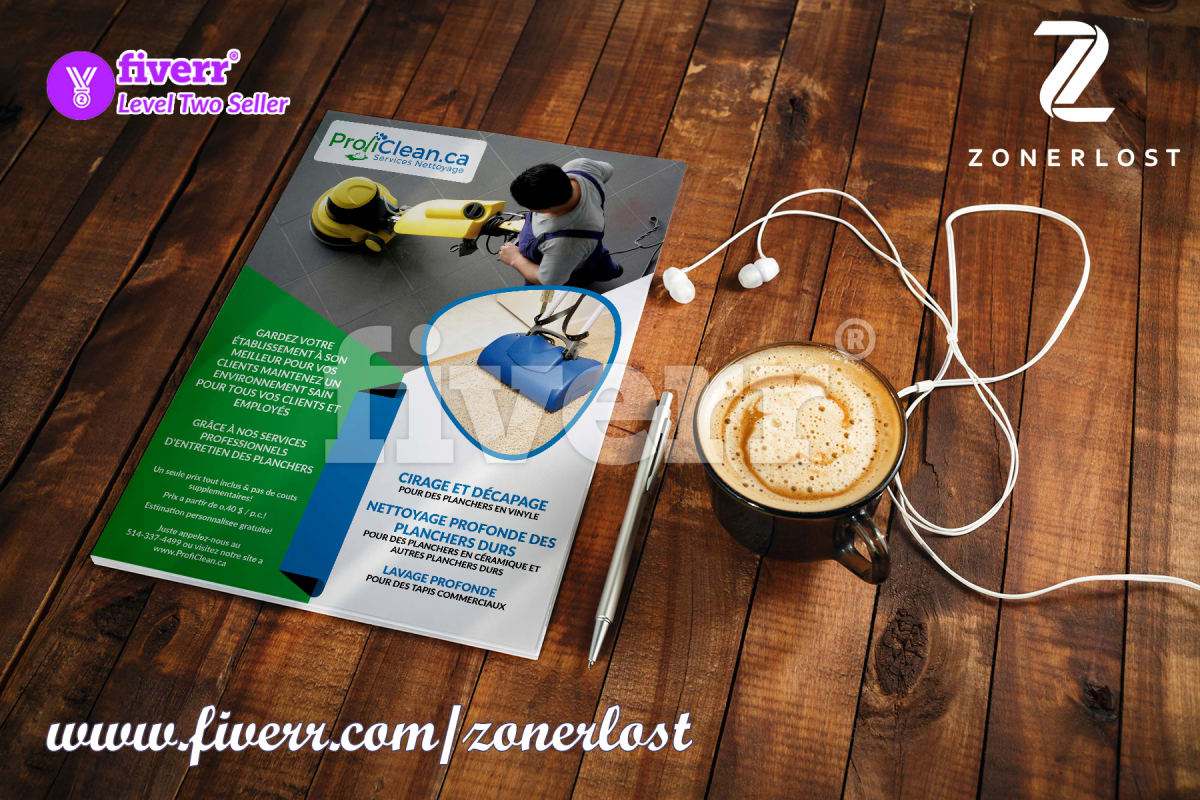 Design A Professional Flyer Brochure Or Leaflet By Zonerlost
