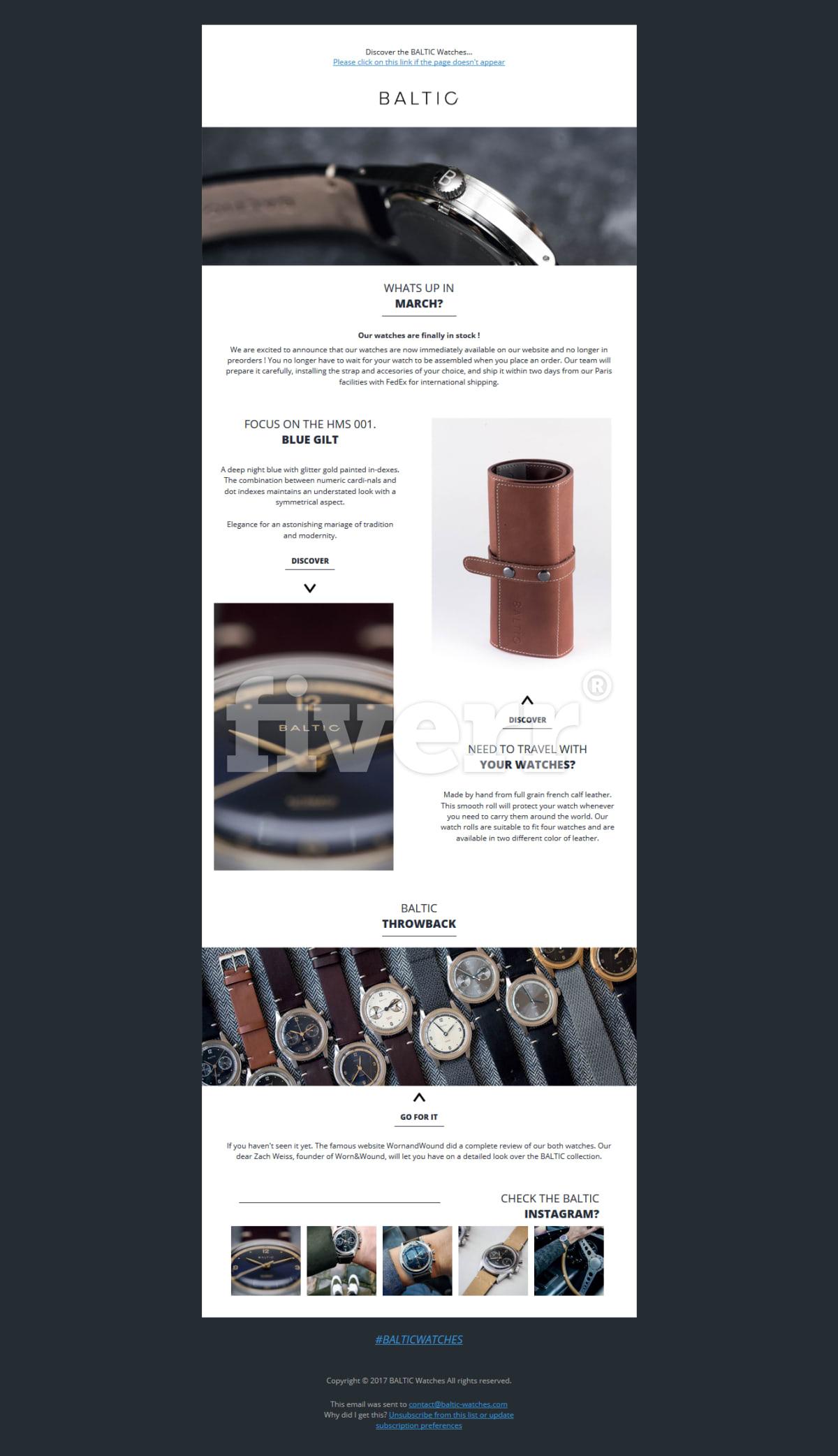 Design newsletter, html template, emailer by Sujanshrestha