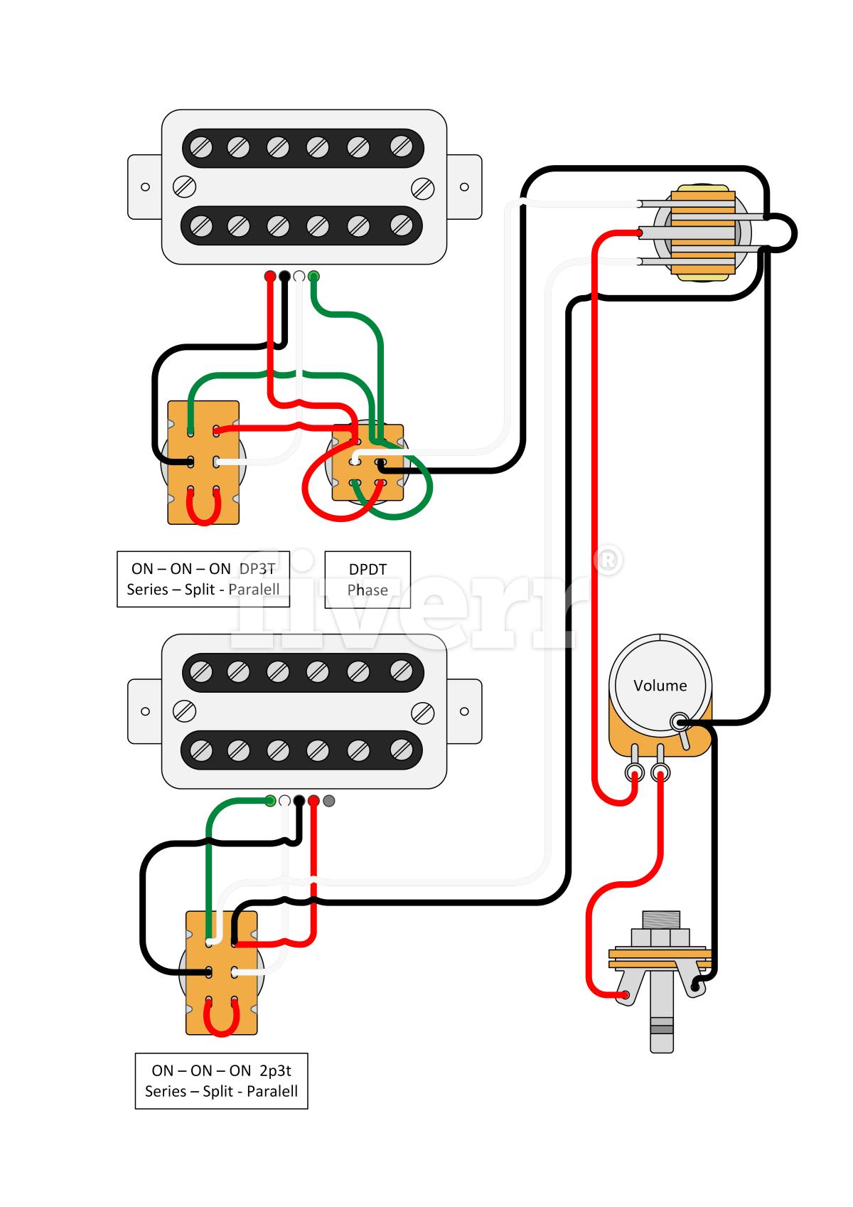 Design Custom Guitar Wiring Diagram By Paulo2534 Two Spdt