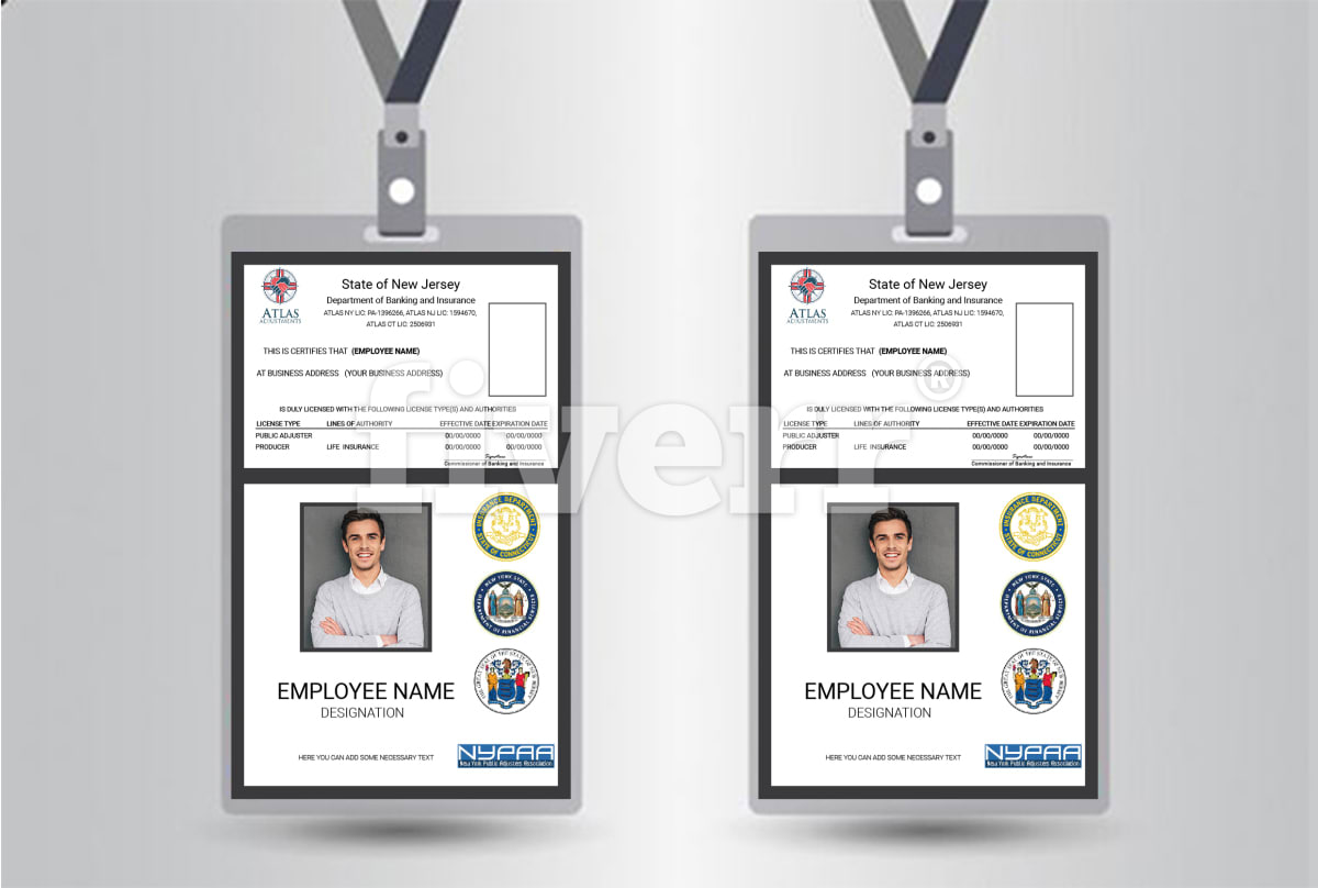design modern id card for employee or students