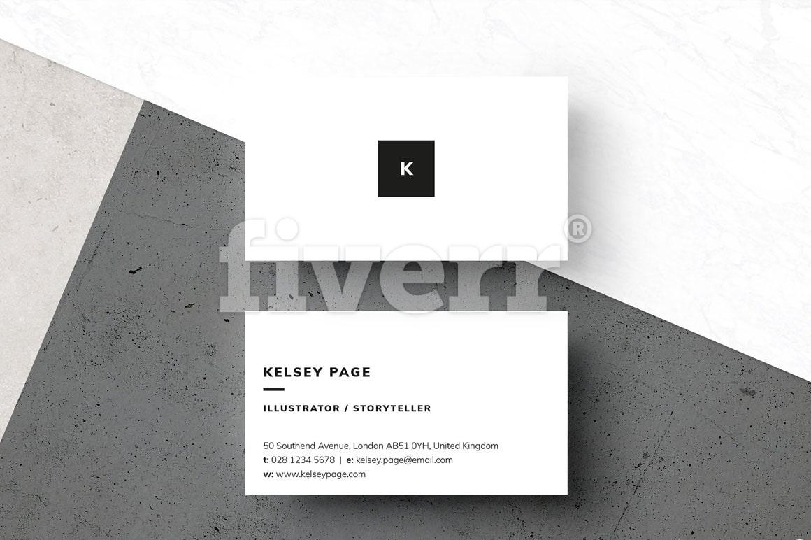 Do minimalist business card design by Jelena_