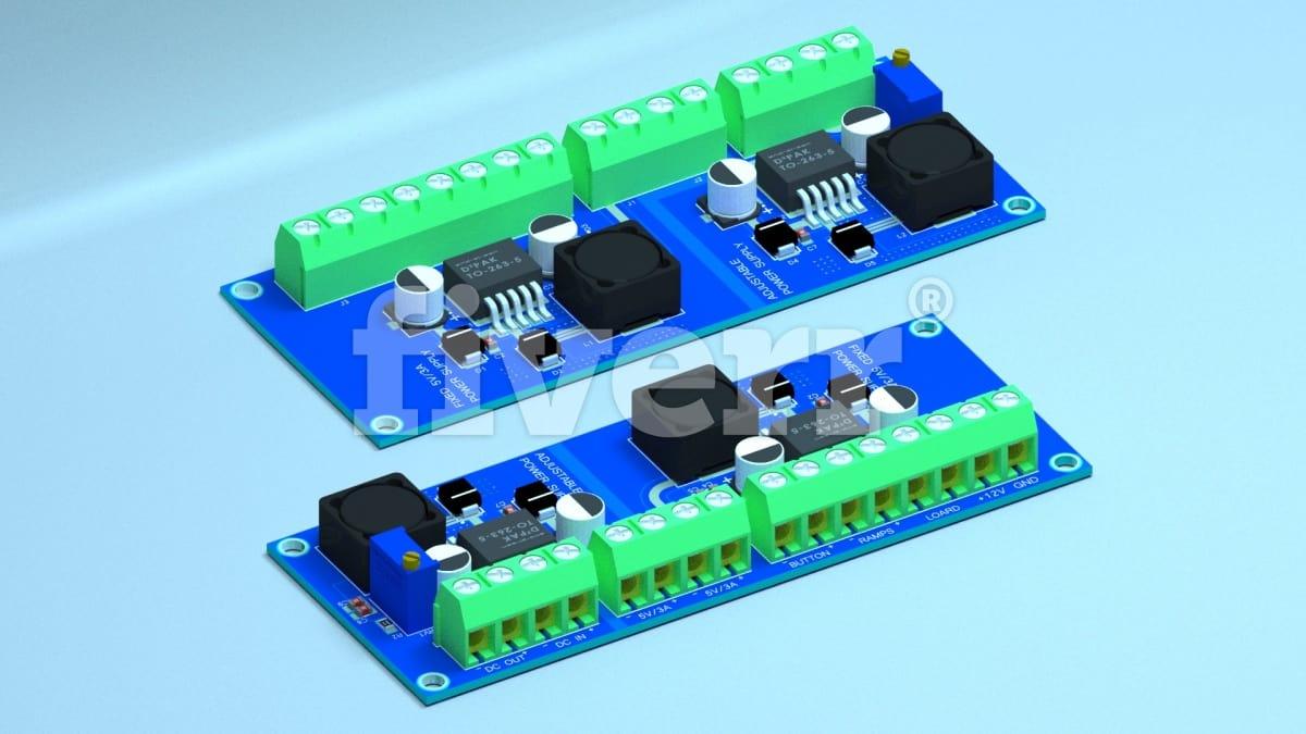 Create pro pcb design and schematics by Vortexe9000
