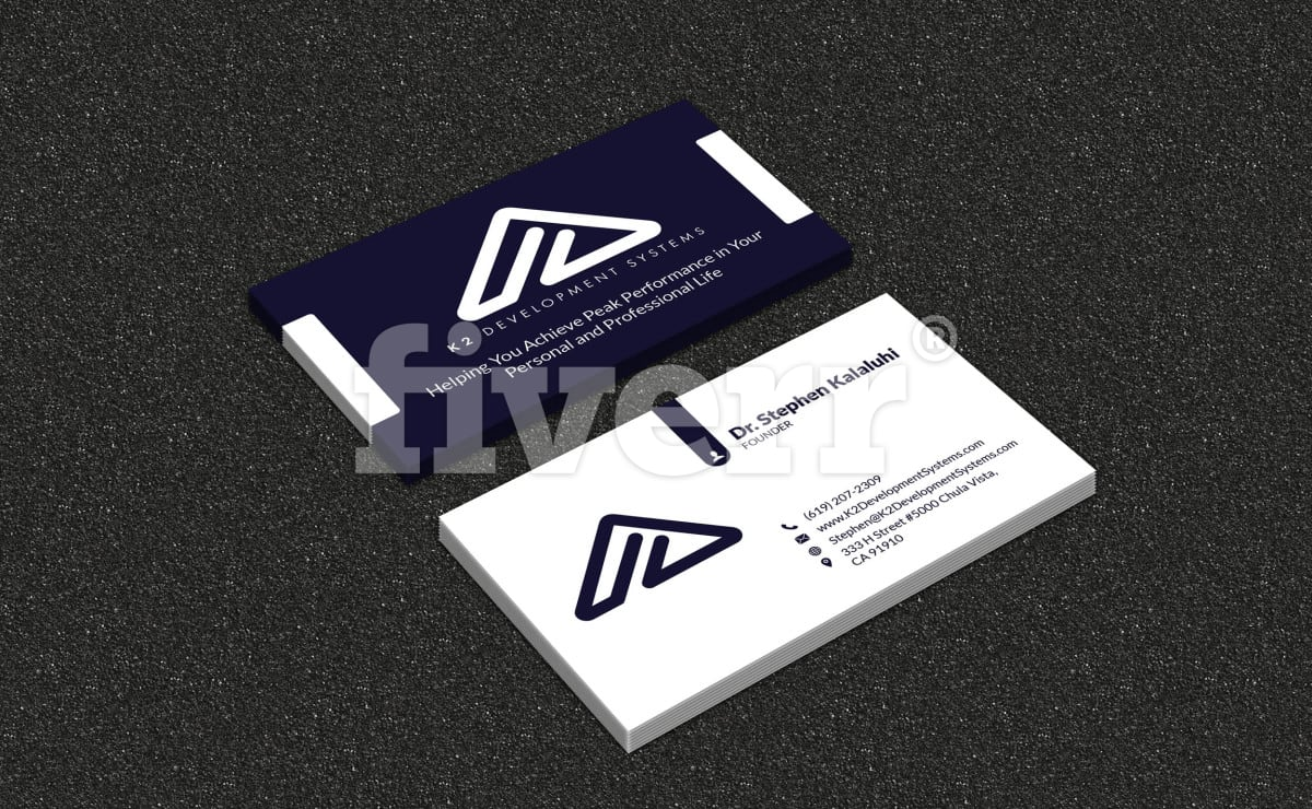 I will make a eye catching business card fiverr reheart Images