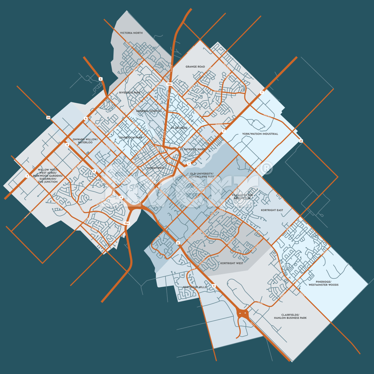 Draw vector map illustration by Rumika