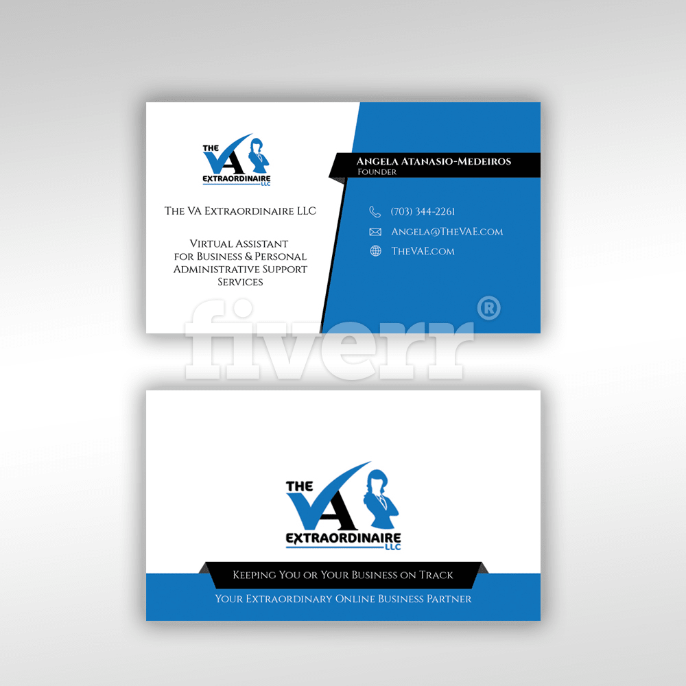 Virtual Administrative Assistant Business Card Topsimages