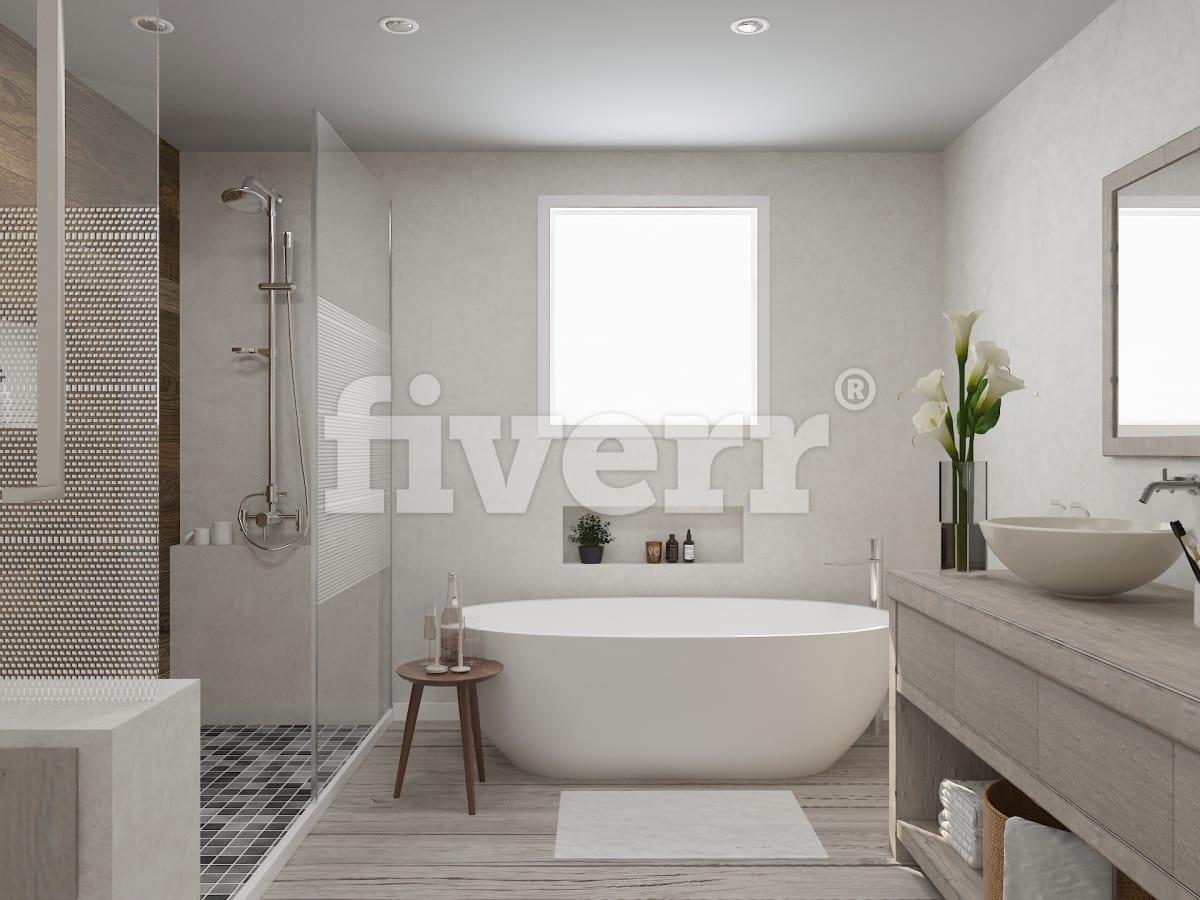 Create your 3d bathroom design by Phuocha_arch